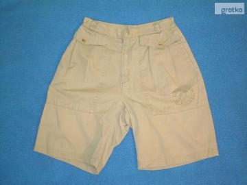 Krótkie spodnie, męskie - khaki.