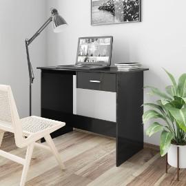vidaXL Biurko, wysoki połysk, czarne, 100x50x76 cm, płyta wiórowa800556