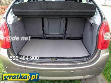 Audi A2 HB od 1999 najwyższej jakości bagażnikowa mata samochodowa z grubego weluru z gumą od spodu, dedykowana Audi A2-1