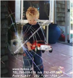 Folie bezpieczne i antywłamaniowe Klasa 2B2 EN1260  , 1B1 EN1260 ,P2A EN356 Folie na okna,lustra,przeszklenia