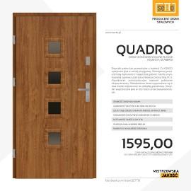 Drzwi zewnętrzne stalowe SETTO model QUADRO VERTICALE CLASSICO