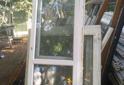 Okna okno PCV biało- brązowe dąb