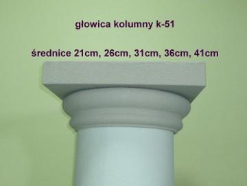głowica, baza kolumny k-51 średnica 26, 31, 36, 41cm