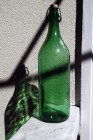 Stara zielona butelka