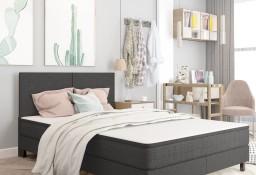 vidaXL Rama łóżka, szara, tapicerowana tkaniną, 180 x 200 cm287458