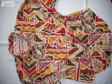 TRUE Przewiewna Koszula Aztek Tropik Bawełna 38 40