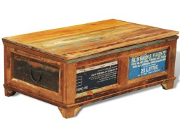 vidaXL Stolik kawowy - skrzynia vintage, drewno odzyskane241092