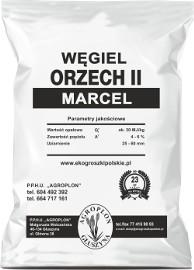 Węgiel orzech II MARCEL ok 30 MJ/kg workowany po 25kg