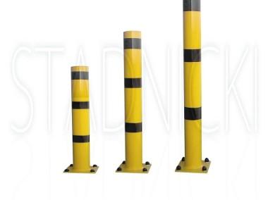 Ochrona bram i garaży, zabezpieczenie garażu odbojnica słupowa 100 cm-1