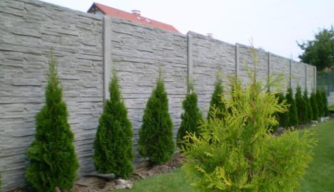 Ogrodzenie panelowe BETONOWE / płot betonowy z płyt