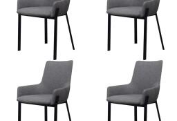 vidaXL Krzesła stołowe, 4 szt., jasnoszare, tkanina273748
