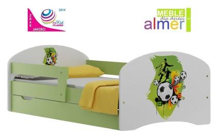 łóżeczko dla dzieci 140x70 z bajkową malowaną grafiką