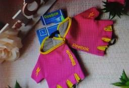 (L) REEBOK/ Różowe rękawiczki fitness/ rękawiczki na rower/ NOWE