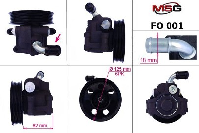Pompa wspomagania hydraulicznego Ford Cougar, Ford Focus, Ford Mondeo FO001