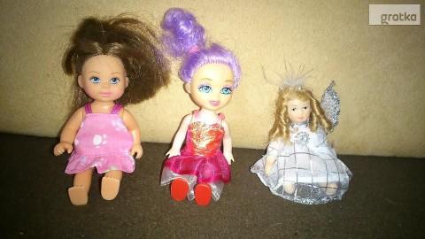 lalki małe cena za 3 sztuki