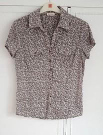 Bluzka Orsay 38 M koszulka bawełniana kwiaty floral koszula