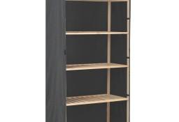 vidaXL Szafa, szara, 79 x 40 x 170 cm, materiałowa 248191