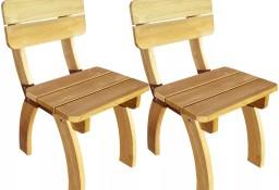 vidaXL Krzesła ogrodowe 2 szt Drewno sosnowe 273755