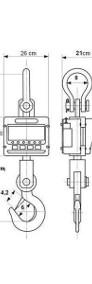 Waga dźwigowa hakowa 5ton obrotowy hak LED pilot-4