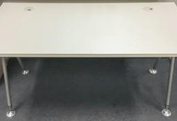 Biurko pracownicze MDD 160x80 z mediaportem oraz przegrodą