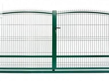 Brama dwuskrzydłowa panel fala 1,3x4m ocynk+kolor -1