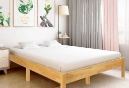vidaXL Rama łóżka z litego drewna dębowego, 160 x 200 cm 288480