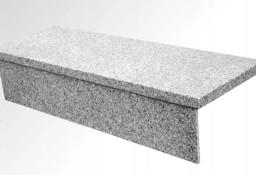 Stopień + Podstopień Granitowy Jasny Szary Komplet Schody 150x33x2 + 150x15x2 cm
