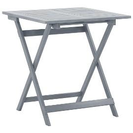 vidaXL Składany stół ogrodowy, 70x70x75 cm, lite drewno akacjowe 46353