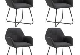 vidaXL Krzesła do jadalni, 4 szt., czarne, tapicerowane tkaniną277106