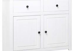 vidaXL Szafka, biała, 93x40x80 cm, lite drewno sosnowe, seria Panama282699