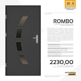 Drzwi wejściowe stalowe SETTO model ROMBO PLUS