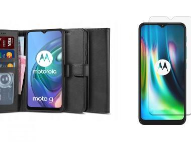Etui Portfel 2 z Klapką + Szkło do Motorola Moto G10 / G20 / G30-1