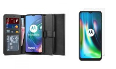 Etui Portfel 2 z Klapką + Szkło do Motorola Moto G10 / G20 / G30