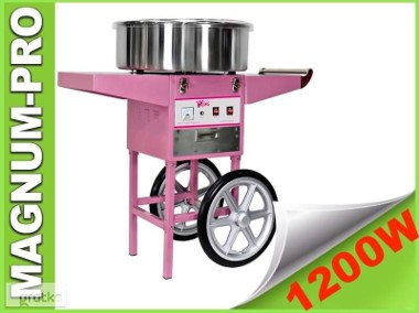 Maszyna do waty cukrowej na kółkach 1200W wata cukrowa wózek-1