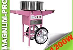 Maszyna do waty cukrowej na kółkach 1200W wata cukrowa wózek