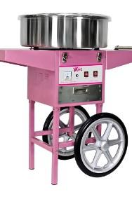 Maszyna do waty cukrowej na kółkach 1200W wata cukrowa wózek-2