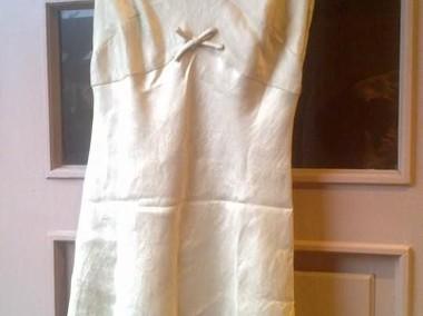 Kremowa sukienka z marynarką-1