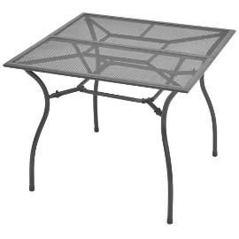 vidaXL Stół ogrodowy, 90x90x72 cm, stalowa siatka 42722
