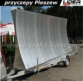 Przyczepa reklamowa, bilbord, baner, reklama mobilna 5x2,5m, DMC 750kg Boro