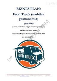 BIZNESPLAN Food Truck (mobilna gastronomia) (przykład)