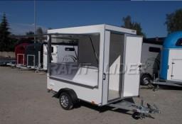 TP-069 przyczepa 250x150x200cm, TFS 252.01 handlowa, gastronomiczna, mobilny sklep, mini handlówka, meble + instalacja el., DMC 750kg