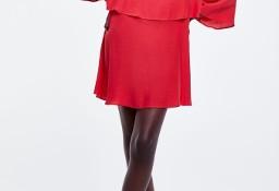 (42/XL) ZARA/ Czerwona sukienka z Madrytu/ NOWA z metką