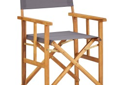 vidaXL Krzesło reżyserskie, lite drewno akacjowe 45951