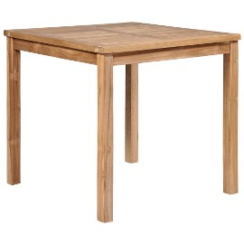 vidaXL Stół ogrodowy, 80 x 80 x 77 cm, lite drewno tekowe 44996