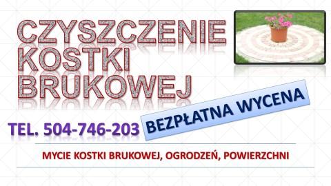 Mycie kostki brukowej, cena, tel. 504-746-203. Czyszczenie karcherem, umycie myjką ciśnieniową, Wrocław.
