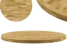 vidaXL Okrągły blat do stolika z litego drewna dębowego, 44 mm, 900 mm245997