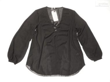 H&M Modna Sznurowana Koszula Falbanka NOWA 34 XS 36 S-1