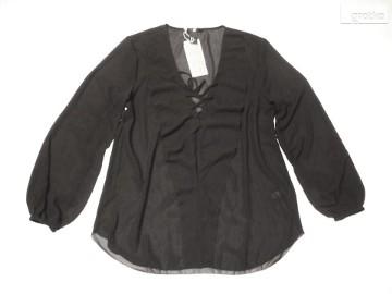 H&M Modna Sznurowana Koszula Falbanka NOWA 34 XS 36 S