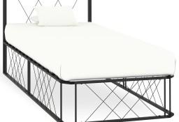 vidaXL Rama łóżka, szara, metalowa, 100 x 200 cm284595