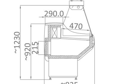 Lada chłodnicza witryna WCH 130 cm NOWA DOSTĘPNA OD RĘKI TRANSPORT-2